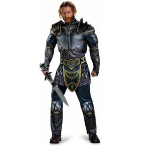 NEW Disguise Warcraft Lothar Men's Muscle Costume